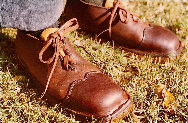 Brown tan shoes