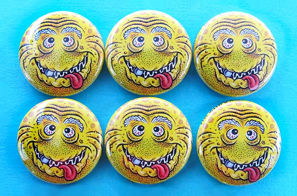 Smiley buttons by Jay Lynch